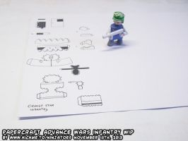 Papercraft Advance Wars Infantry unit WIP by ninjatoespapercraft