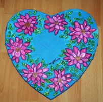 pink flower power heart by ingeline-art