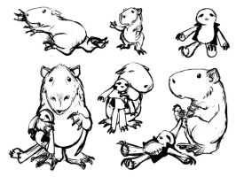 Happy Little Capybara sketches by ursulav