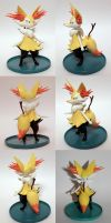 Handmade: Braixen Sculpture by vitav