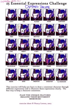 25 Expressions of Optimus Prime by TheSpeed0fLlight