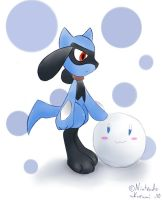 48 Childhood - Riolu by RuiNami