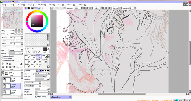 Nose Kiss Wip by tomomi11