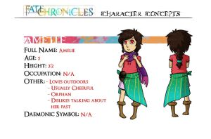 FC Character Concepts- Amelie by DragonHT