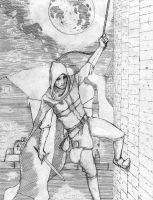 Garrett - Scaling the Wall (Sketch) by XAcerbusX