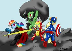 My Little Avengers:Destruction is Magic by CIRILIKO