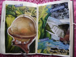1st Altered Book 30, Favorites by angelstar22