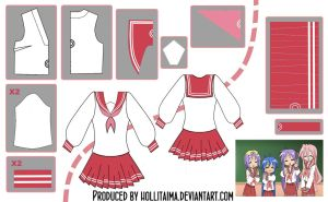Lucky Star Seifuku Cosplay Design Draft by Hollitaima