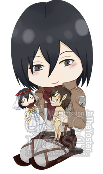 Commission - TheYoster - SnK-Mikasa (2) by darc-rose