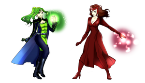Polaris and Scarlet Witch by ayurelacteus