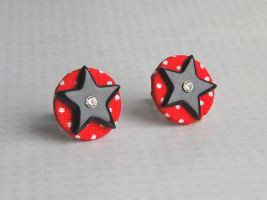 Kitschy earring studs by Madizzo