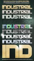 Industrial Grunge Text Effects by djnick2k
