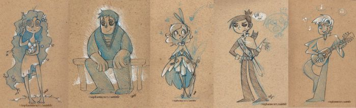 Coffee Shop Sketches by MarionetteDolly