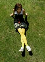 A girl in yellow tights by reniferowa