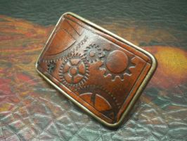 Steampunk Belt Buckle by Skinz-N-Hydez