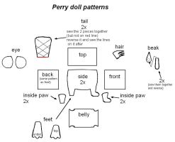 Perry the Platypus doll patterns by cloudstrife597