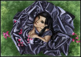 A black rose by Amyhoi