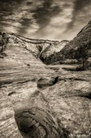 Natures Cement and Clouds BW LMB by mjohanson