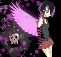 Emo Angel Girl COLOR by GerBo