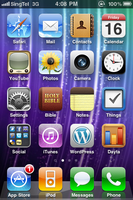 iPhone Home Screen, 2010-07-16 by BoltClock