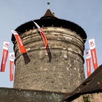 The toy fair tower of city wall Nuremberg by andersvolker