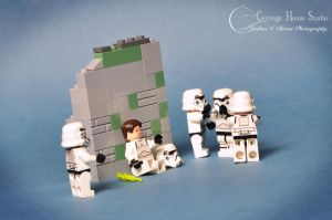 lego stormtrooper - Intervention by Jbressi
