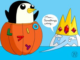 Pumpkin Time - Ice King and Gunther by -coldfusion-