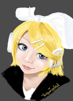 Rin Kagamine by turquoiseted