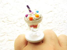 Ice Cream Food Ring by souzoucreations