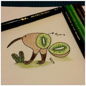 A kiwi...maybe? by Marce3