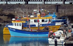 Fishing boats in harbour by Sceptre63