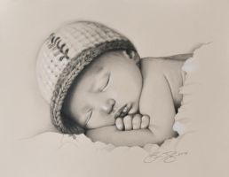 Baby Drawing by golfiscool