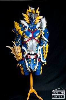 Zinogre Armor Monster Hunter front by Dewbunch