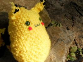 Crocheted Pikachu by Truffly