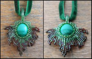Leaf pendant by Rrkra