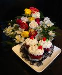 English Rose Cupcakes 2 by DictatorDelights