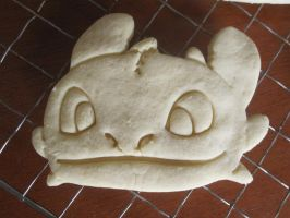 Toothless Face Cookie Baked by B2Squared