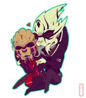 Love in chibi form by Deezmo