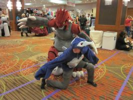 A-Kon 23: Groudon and Shadow Lugia by Inept-Evil-Genius