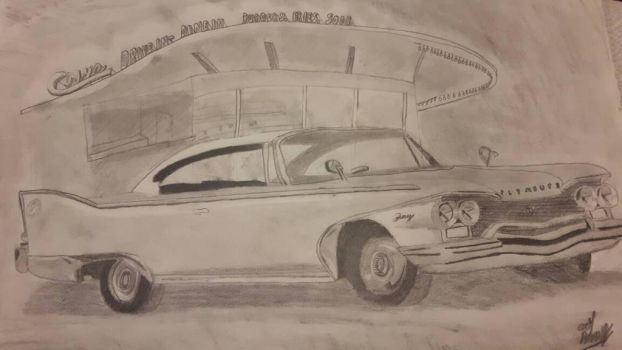 1960 Plymouth Fury (freehand shading experiment) by TheFieroPegasus