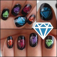 Diamond nails by Ninails