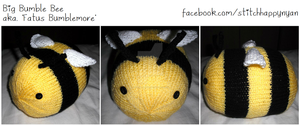 Big Bumble Bee - aka. 'Fatus Bumblemore' by Stitch-Happy