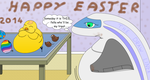 Happy Easter 2014 ! by thedrawliner
