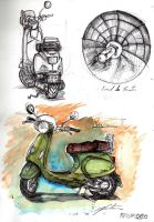 Vespa Study by Counterdraw
