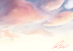 Sunset Clouds by Taelune