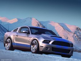 Ford Mustang Shelby GT500 CGI by sergoc58