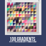 100 Gradients by rossalinesenty