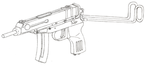 Skorpion vz. 61 Drawing by Fewes