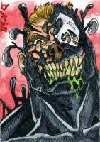 Venom Grinning Sketch Card by DKuang