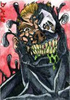 Venom Grinning Sketch Card by DKuang